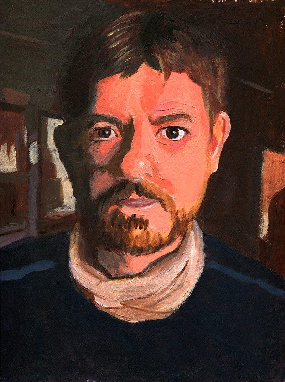 Autoportrait - Acrylique - 32x24cm