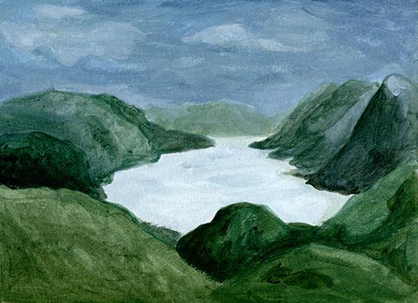 Jotunheimen - Acrylique - 24 x 32 cm