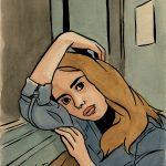 La fille dans le métro