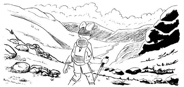 Tests d'encrage sur un même dessin : on y trouve de la plume, du pinceau et du feutre !