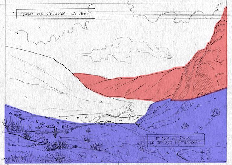 Si l'encrage est raté, les rochers semblent faire partie de la chaîne de montagne de l'arrière plan.