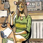 Marion au bureau