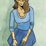 La fille en bleu
