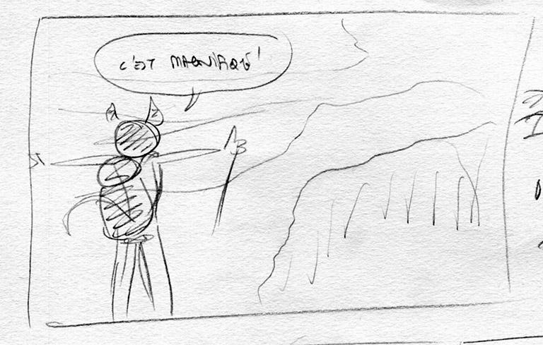 Dans un storyboard, il faut faire preuve d'imagination !